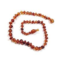 "Hazelaid  14"" Pop-Clasp Baltic Amber Cognac Necklace"