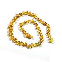 "Hazelaid  14"" Pop-Clasp Baltic Amber Lemon Necklace"