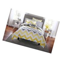 Popular 8-Piece Mainstays Yellow Grey Chevron Bed in a Bag