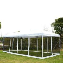 Outsunny 10' x 20' Pop-Up Canopy Shelter Party Tent with