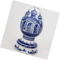Porcelain Easter Egg Gzhel Porcelain