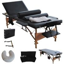 Portable 3 Fold Massage Table Facial Bed W/Sheet+Cradle