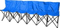 Portable 6 Seater Sports Bench With Back - Sits 6 People -