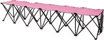 Trademark Innovations Portable 6 Seater Sports Bench Sits,