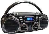 Sylvania Portable Bluetooth CD Radio BoomBox, Black
