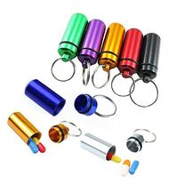 8Pcs 4.8x1.7CM Portable Colorful Metal Aluminum Hermetic
