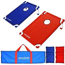 GoSports Portable PVC Framed CornHole Game Set with 8 Bean