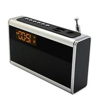 Supersonic Portable Rechargeable Speaker with Alarm Clock &