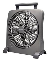 O2COOL 10-Inch Portable Smart Power Fan with AC Adapter &