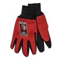 NBA Portland Trail Blazers Two-Tone Gloves, Red/Black