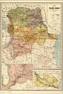 24x36 Poster; Carte Du Congo Belge Map Of Belgium Congo 1886