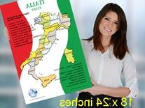 Poster in Italian - Map of Italy and Its Regions, for