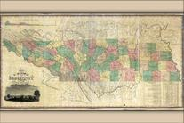 24x36 Poster; Map Of Tennessee 1832; Antique Reprint
