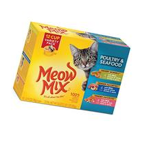 Meow Mix Poultry and Seafood Variety Pack Wet Cat Food, 2,75