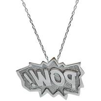 Edge Only - POW! Pendant Extra Large in Silver