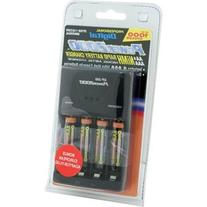 Power 2000 XP350-11 AAA Charger with 4 Rechargeable