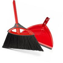 O-Cedar Power Corner Angle Broom with Dust Pan