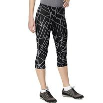 Champion Women's Power Cotton Print Knee Tight, Black Map