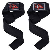 4FIT Power Hand Bar Straps Weight Lifting Cotton Straps