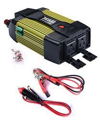 ERAYAK 400W Power Inverter Dual US Outlets,2.1A USB Ports w