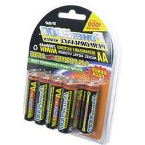 Power2000 AA Rechargeable Batteries, 1.2V Ni-MH, 2950mAh, 10