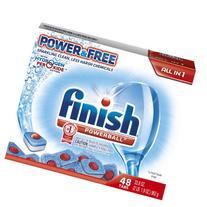 Finish Powerball Tabs Dishwasher Detergent, Power and Free,