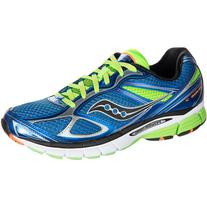 Saucony PowerGrid Guide 7 Running Shoe - Men's Blue/Slime/