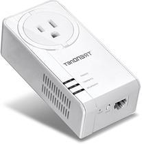 TRENDnet Powerline 1200 AV2 Adapter with Built-in Outlet,