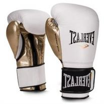 Everlast 12oz Women's Powerlock Hook/Loop Gloves White-Gold