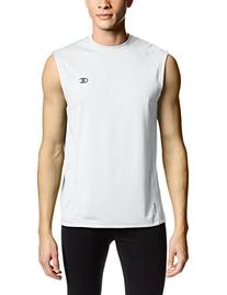 Champion Men's Powertrain Muscle Tee, White, X-Large