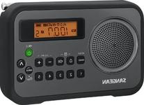Sangean PR-D18BK AM/FM/Clock Portable Digital Radio with