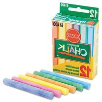 Prang Hygieia Chalk, 3.25 x .375 Inch Chalk Sticks, 12 Count
