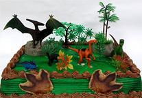 Prehistoric Roaming DINOSAURS 12 Piece Birthday CAKE Topper