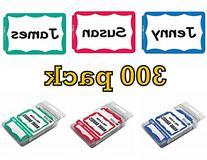 C-Line Pressure Sensitive Peel and Stick Name Badges, Blue,