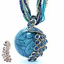 Zonman Pretty Jewelry Retro Bohemia Style Pendant Opal