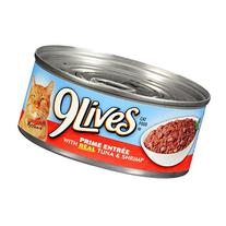 9Lives Prime Entree - Tuna & Shrimp - Pack of 24, 5.5 oz