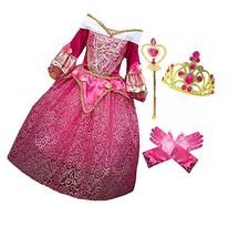 Princess Aurora Deluxe Pink Party Dress Costume