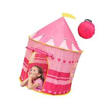 Kiddey Princess Castle Kids Play Tent - Indoor/Outdoor Pink