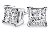 PARIKHS Princess cut Diamond stud Prime Quality 14k White