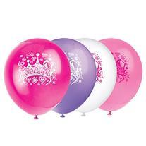 """12"""" Latex Diva Princess Balloons, 8ct"""