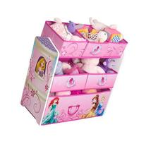 Disney Princess Multi-Bin Toy Organizer, Pink, Featuring All