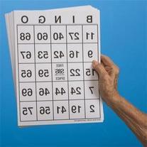 Large-Print Bingo Cards