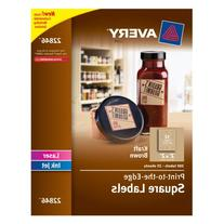 Avery Print-to-the-Edge Square Labels, Kraft Brown, 2 x 2