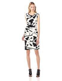 Women's DKNYC Print Jersey Ruched Sheath Dress, Size Small