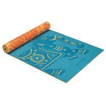 Gaiam Premium Reversible Print Yoga Mat, Extra Thick Non
