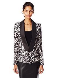 Women's Rachel Zoe 'Reid' Print Silk & Wool Tuxedo Jacket,