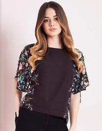 Lipsy Printed Batwing Top