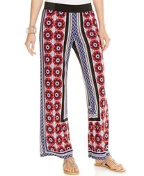 Inc International Concepts Printed Wide-Leg Pants