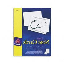 Avery Note Cards For Laser Printers, 4-1/4 X 5-1/2, White,