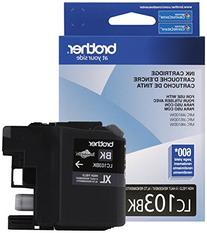 Brother Genuine High Yield Black Ink Cartridge, LC103BK,